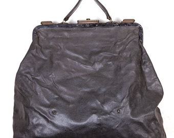 1930's coated canvas handbag