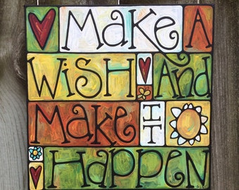 Make It Happen acrylic on canvas painting
