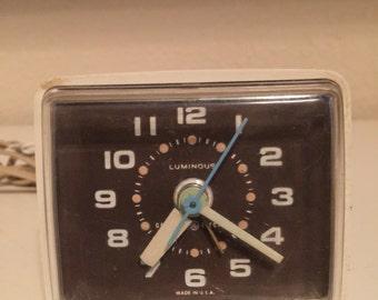 """Alarm Clock Vintage Luminous General Electric Retro Midcentury """"SALE"""""""