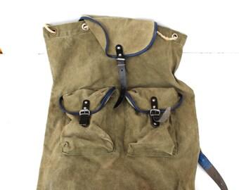 Soviet vintage backpack Soviet rucksack Large vintage backpack Large old knapsack Backpack for fisher hunter