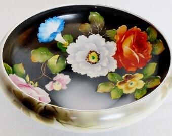 Vintage/Antique Noritake Morimura Porcelain Hand Painted Serving Bowl, Vintage Noritake Hand Painted Bowl, Noritake Morimura Decorator Bowl