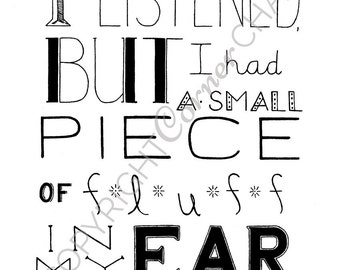 Winnie The Pooh Embroidery, PDF Embroidery File, Embroidery Pattern, PDF Embroidery Pattern, Listening Quote Embroidery, A. A. Milne Quote