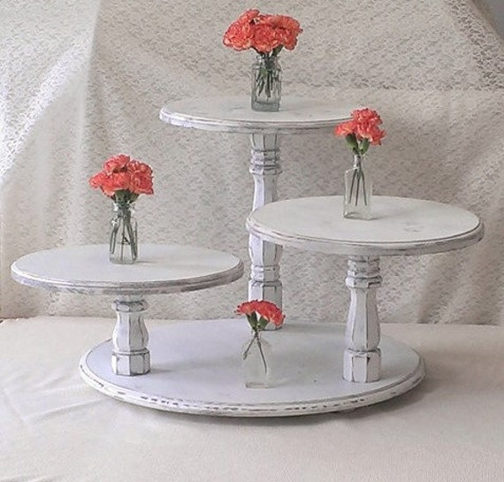 Wedding Cupcake Stand Ideas: Shabby Chic CupCake Stand Cup Cake Table Tower Display White