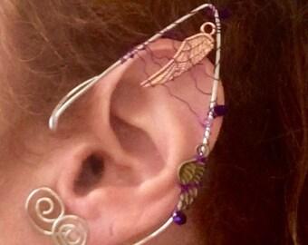 Elf Ears, Steampunk Elf Ears, Ear Cuffs, Festival Style, Festival Jewelry, Burner Style