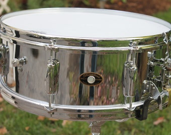 "Slingerland 5-1/2"" x 15"" snare drum, early 1960s, chrome plated brass Radio King"