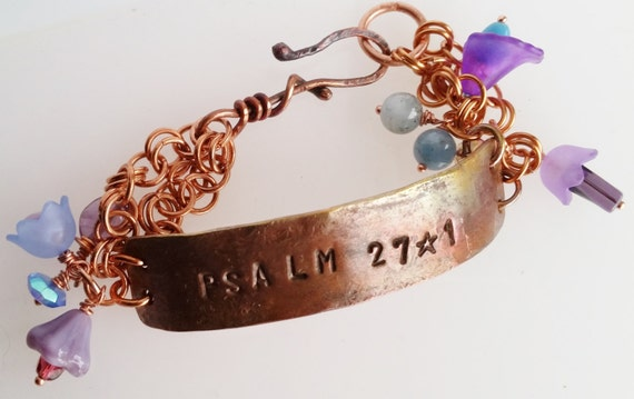 Copper Bracelet with Bible Verse