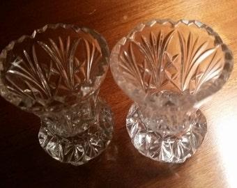 Mini Crystal Vase Pair