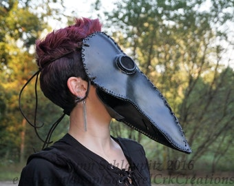 Plague Doctor Mask! ON SALE thru October!  Leather mask, Scary mask, Steampunk, Cosplay, Renaissance, Horror, Rave, Black mask, Halloween