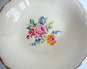 Vintage Floral China Bowl 1940s Shabby Cottage Mismatched China Rose floral China Serving dish