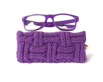 SALE - 10% off! Purple Glasses Case. Eyeglasses Case. Sunglasses Case. Eyeglasses Holder. Sunglasses Holder. Reading Glasses Case.