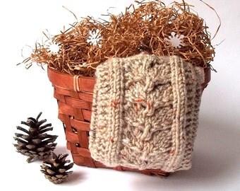 SALE - 50%OFF. Knit Headband. Knit Head Wrap. Knitted Head Warmer. Beige Gray Headband