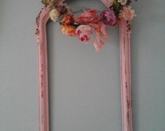 Shabby chic dainty pink frame