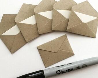 Mini Kraft Envelopes, Tiny Envelopes, Teeny Tiny Envelopes, Mini Envelopes, Tiny Kraft Envelopes, Tooth Fairy Notes