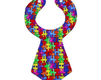 Puzzle Baby Necktie Bib