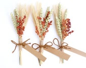 Rustic Place Cards-Rustic Table Setting-Rustic Wedding Place Cards-Fall Wedding Escort Cards-Mini Wheat Sheaf-Country Wedding