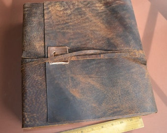 Custom Order Distressed Leather Journal Large Handmade Journal (494)