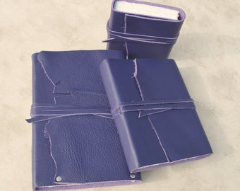 Purple Leather Journal Collection Set Custom Made to Order Diary Art Notebook Sketchbook Collection Personal Planner Collection (469)