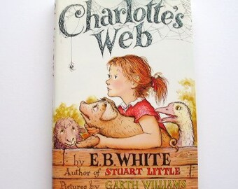 Charlotte's Web vintage book by E.B. White, with dustjacket, 1980