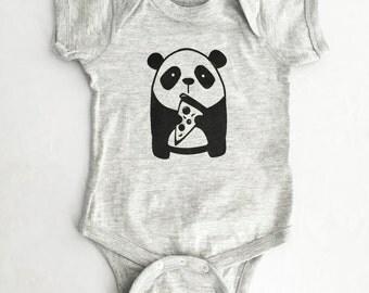Panda Pizza Cute Kawaii Funny Baby Shower One Unisex Piece
