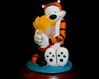 The Hug - Calvin and Hobbes tribute sculpture