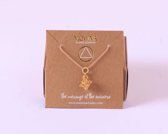 Merkaba star tetrahedron sterling silver 925 gold plated
