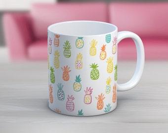 Pineapple Pattern // 11 oz or 15 oz Coffee Mug