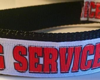 Dog Collar, Service Dog Collar, 1 inch wide, adjustable