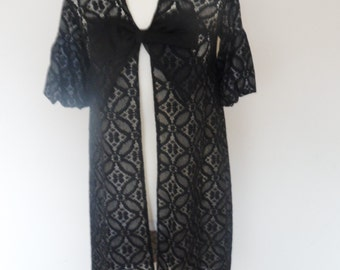Handmade lace jacket/robe