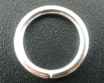 50 Pieces Silver Plated Open Jump Rings 12mm, 15 Gauge