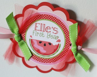 Baby's First Year Photo Banner, Watermelon Summer First Year Monthly Photo Birthday Banner, 1-12 Months, Baby Shower Gift for Mom to Be