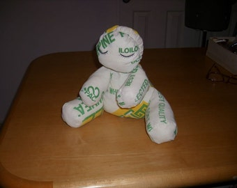Autistic doll made from a flour sack Signed