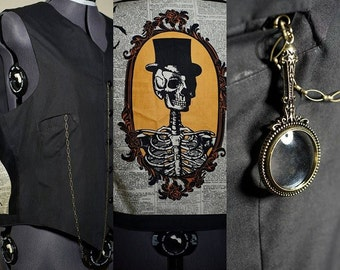 Men's Creepy Tuxedo Vest