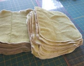 Green Terry cotton washcloths