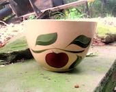 "Watt Pottery apple 3 leaf mixing bowl 9"" ovenware usa #65"