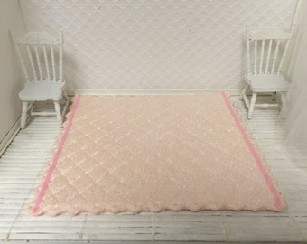 Dollhouse Pink Rug - Free Shipping to the US