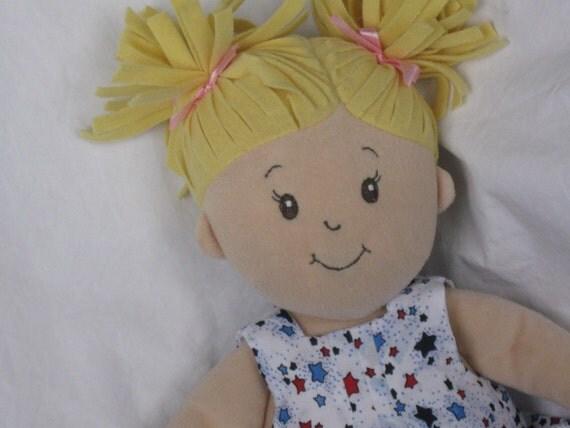 Doll Dress fits Baby Stella Red White Navy Blue stars
