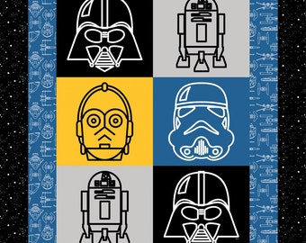 Star Wars Character Quilt Kit Darth Vader C3PO R2D2 Stormtrooper