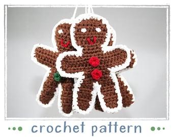 Gingerbread Man - Ornament - PDF - Crochet Pattern