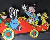 Disney Wall Hanging Vintage Mickey Mouse Train