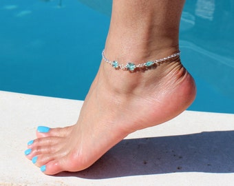 Butterfly Crystal Anklet