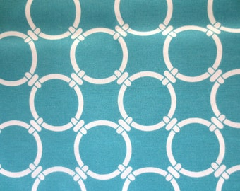 OUTDOOR Pillow Cover / Aqua Pillow Cover / Turquoise Pillow Cover / Blue Pillow Cover / Aqua Geometric Print