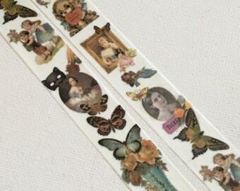 1 Roll of  Japanese Washi Tape - Vintage Images