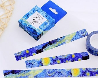 1 Roll of Limited Edition Washi Tape: Van Gogh's Starry Night