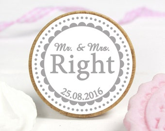 COOKIE stamp - Mr. & Mrs. Right 50 mm ø