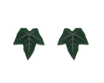 Ivy Leaf earrings - laser cut acrylic