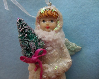 Vintage SNOW ANGEL >*< Victorian Edwardian Christmas >*< Little Girl Angel >*< Old Fashioned Christmas >*< ANGEL