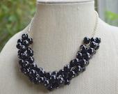 Black, Cluster Necklace, Bauble Necklace, Bubble Necklace, Statement Necklace