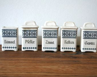 German ceramic kitchen storage pots jars