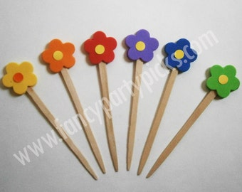 Party Picks, Fruit Picks, Party Toothpicks, Cupcake Topper, Cake decoration, Appetizer Picks (#101)