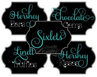 Wedding Candy Buffet Labels - You Print - ANY COLOR - Wedding | Candy Buffet | Candy Labels | Dessert Table | Candy Buffet Wedding Labels